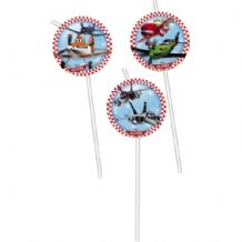 'Disney Planes' Drinking Straws 6pcs